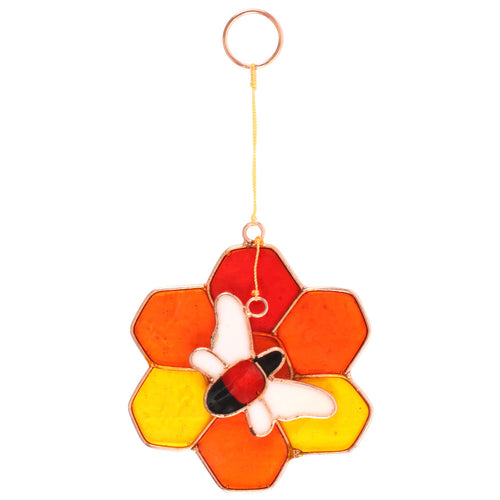 Bee and Honeycomb Suncatcher - Miss Pretty London UK Limited