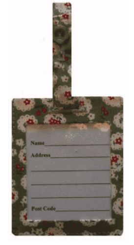 Green Cherry Blossom Luggage Identity Bag Tag
