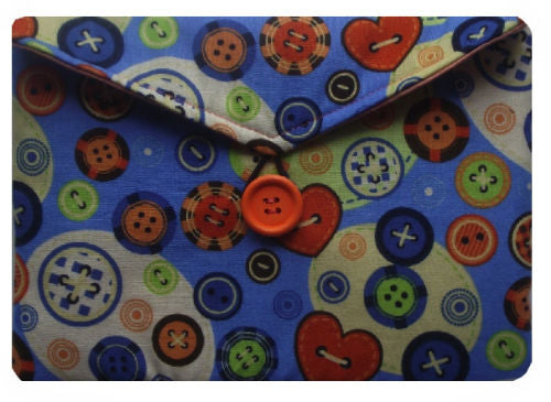 Hearts and Buttons Print Tablet Bag - Miss Pretty London UK Limited