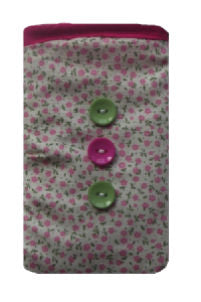 Pink Mini Flowers Print Mobile Phone Sock Pouch - Miss Pretty London UK Limited