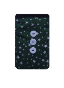 Green Stars Print Mobile Phone Sock Pouch - Miss Pretty London UK Limited