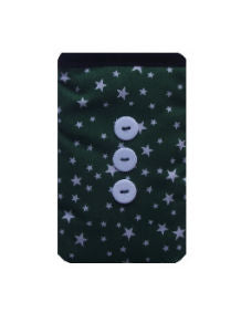 Green_Stars_Print_Mobile_Phone_Sock_Pouch