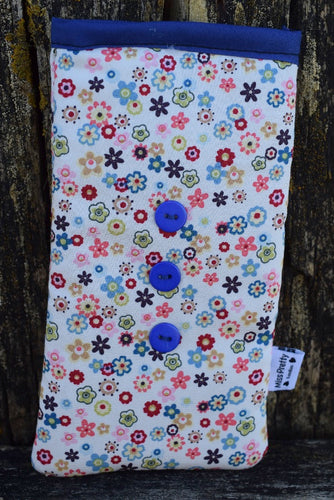 Vintage Daisy Print Mobile Phone Sock Pouch