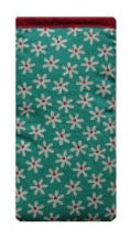 Duck Egg Blue Daisy Print Mobile Phone Sock Pouch - Miss Pretty London UK Limited