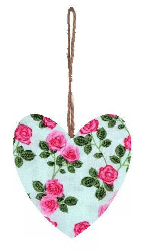 English_Roses_Print_Plump_Fabric_Hanging_Heart