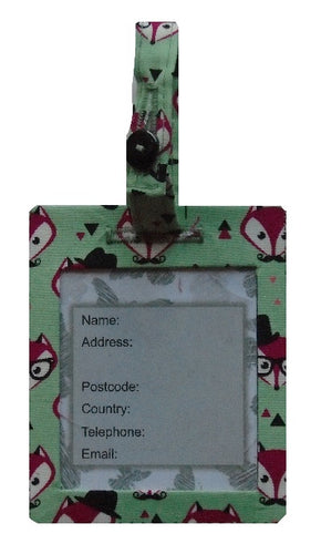 Fancy Mr Fox Luggage Identity Bag Tag
