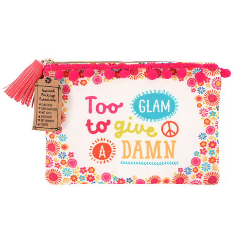 Too Glam to Give a Damn Makeup Pouch - Miss Pretty London UK Limited