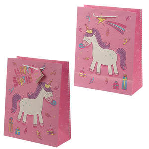 Happy Birthday Rainbow Unicorn Large Gift Bag