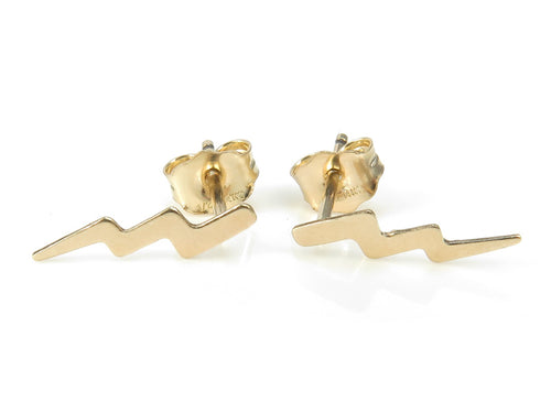 GOLD FILLED LIGHTNING STUDS