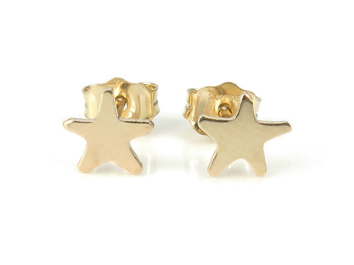 GOLD FILLED STAR EAR STUDS