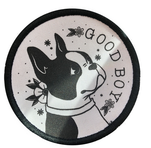 Good Boy Dog Iron on Patch