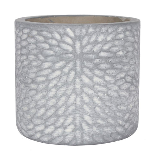 GREY TEXTURED PLANT POT - Miss Pretty London UK Limited