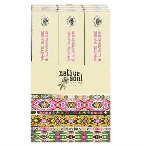 Green Tree Native Soul White Sage & Lavender Incense Sticks - Miss Pretty London UK Limited
