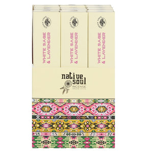 Green Tree Native Soul White Sage & Lavender Incense Sticks