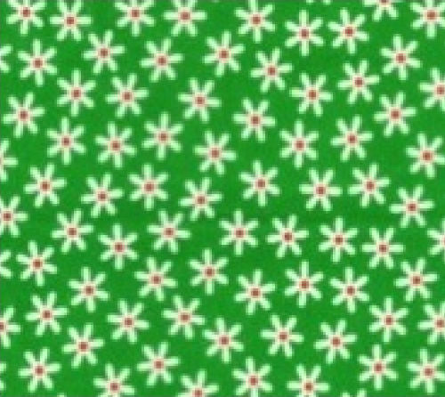 Green_Daisy_Print_Cotton_Fabric