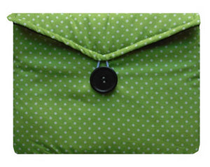Mini_Green_Polka_Dot_Print_Tablet_Bag
