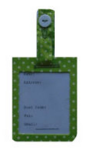 Mini Green Polka Dot Print Luggage Identity Bag Tag