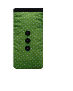 Mini_Green_Polka_Dot_Print_Mobile_Phone_Sock_Pouch