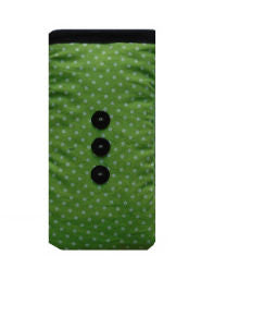 Mini Green Polka Dot Print Mobile Phone Sock Pouch - Miss Pretty London UK Limited