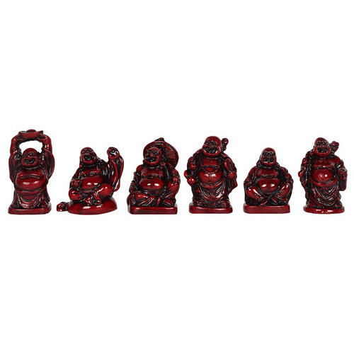 RED RESIN BUDDHA ORNAMENTS