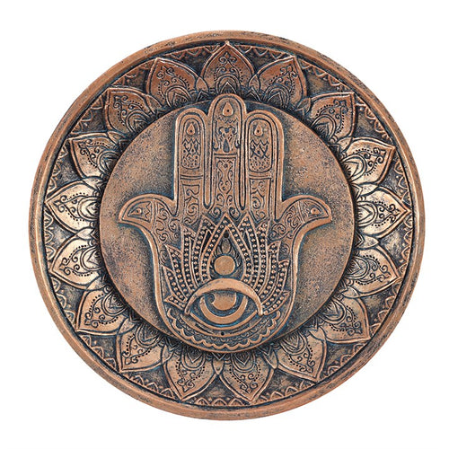HAND OF HAMSA INCENSE HOLDER PLATE