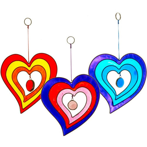 HANGING HEART SUNCATCHER