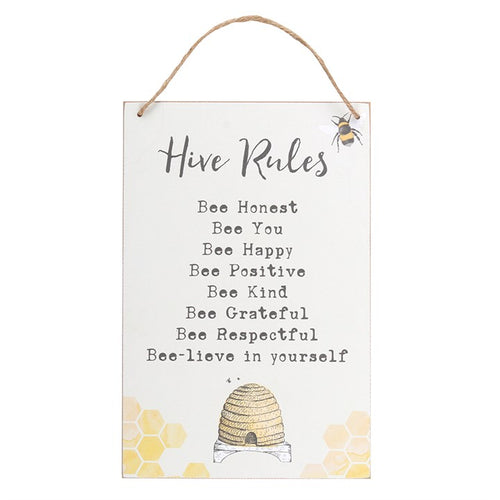 HIVE RULES HANGING SIGN - Miss Pretty London UK Limited