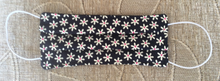 Load image into Gallery viewer, Navy Blue Daisy Print Face Mask - Miss Pretty London UK Limited