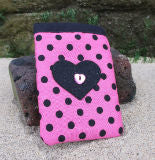 Light_Pink_Polka_Dot_Print_Mobile_Phone_Sock_Pouch