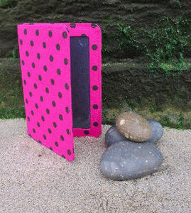 Cerise_Pink_Polka_Dot_Print_Passport_Wallet