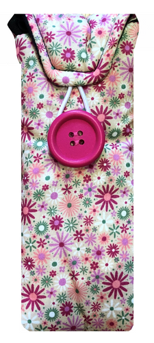 Pink Garden Flowers Print Glasses Case - Miss Pretty London UK Limited