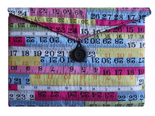 Tape Measure Print Tablet Bag - Miss Pretty London UK Limited
