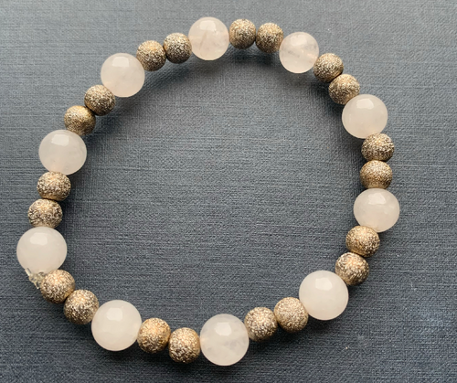 Rose Quartz Beads Stretchy Bracelet