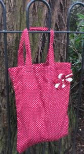 Small Red Polka Dot Shopping Bag - Miss Pretty London UK Limited