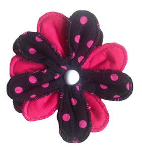 Dark_Pink_Polka_Dot_Print_Flower_Brooch
