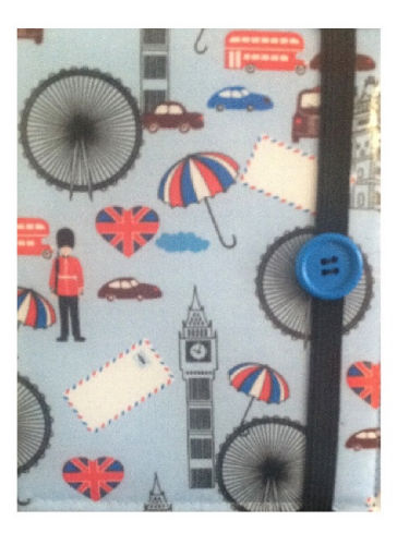 Blue London Print E-Reader Case - Miss Pretty London UK Limited