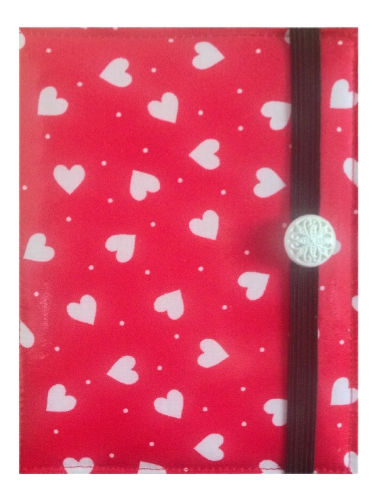 Light Red Hearts Print E-Reader Case - Miss Pretty London UK Limited