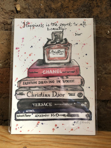 Chanel Books Print by Uk Designer Mary Darch