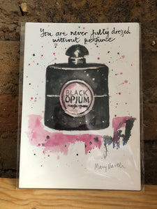 Black Opium Print by Uk Designer Mary Darch