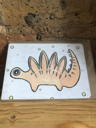 Stegosaurus Greeting Card