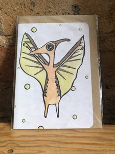 Pterodactyl Greeting Card - Miss Pretty London UK Limited
