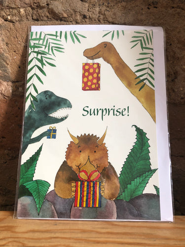 Surprise Dinosaur Greeting Card