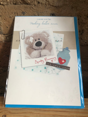 Speedy Recovery Bear Greeting Card
