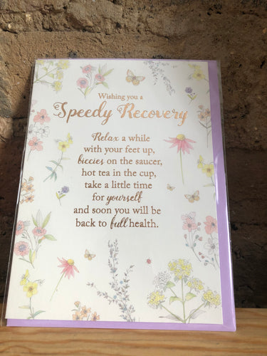 Speedy Recovery Flowers Greeting Card