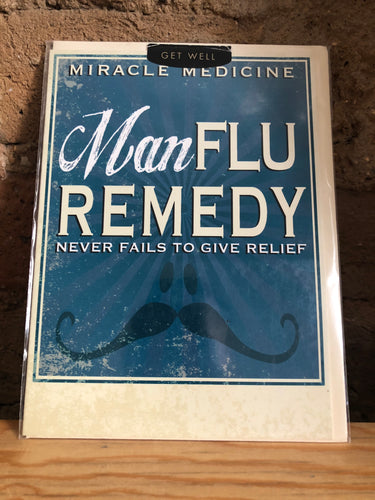 Man Flu Remedy Greeting Card