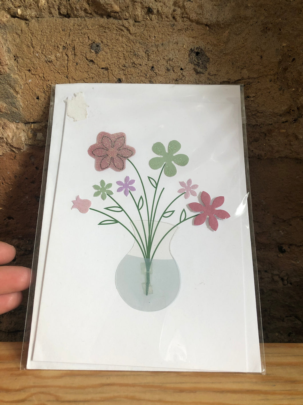 Handmade Flower Bouquet Greeting Card