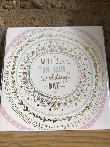 With Love on Your Wedding Day Greeting Card