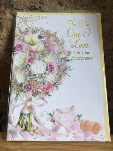 To The One I Love on Our Anniversary Greeting Card