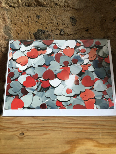 Silver Hearts Greeting Card