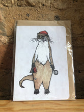 Load image into Gallery viewer, Stamp Collecting Otter Greeting Card - Miss Pretty London UK Limited